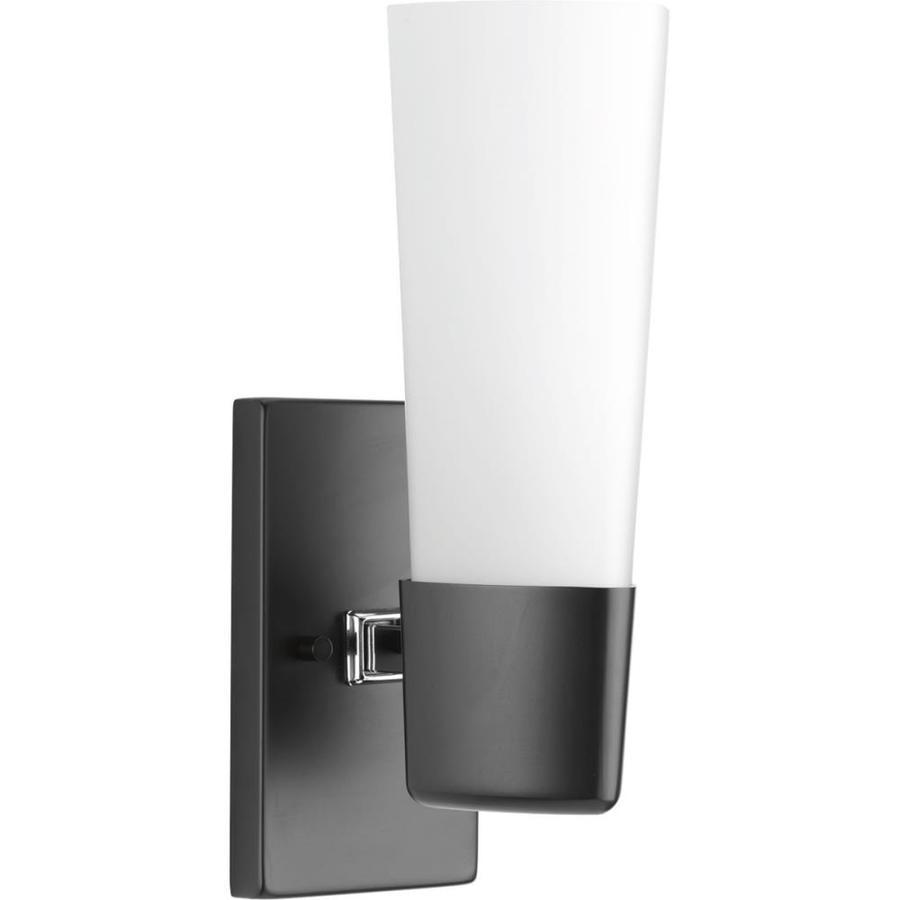 Progress Lighting Zura 1-Light 13.75-in Black Vanity Light