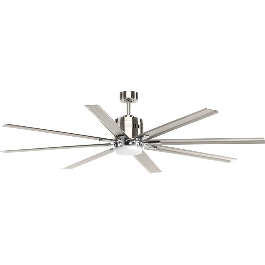 Progress Lighting Vast 72 In Brushed Nickel Led Indoor Ceiling Fan With Light Kit And