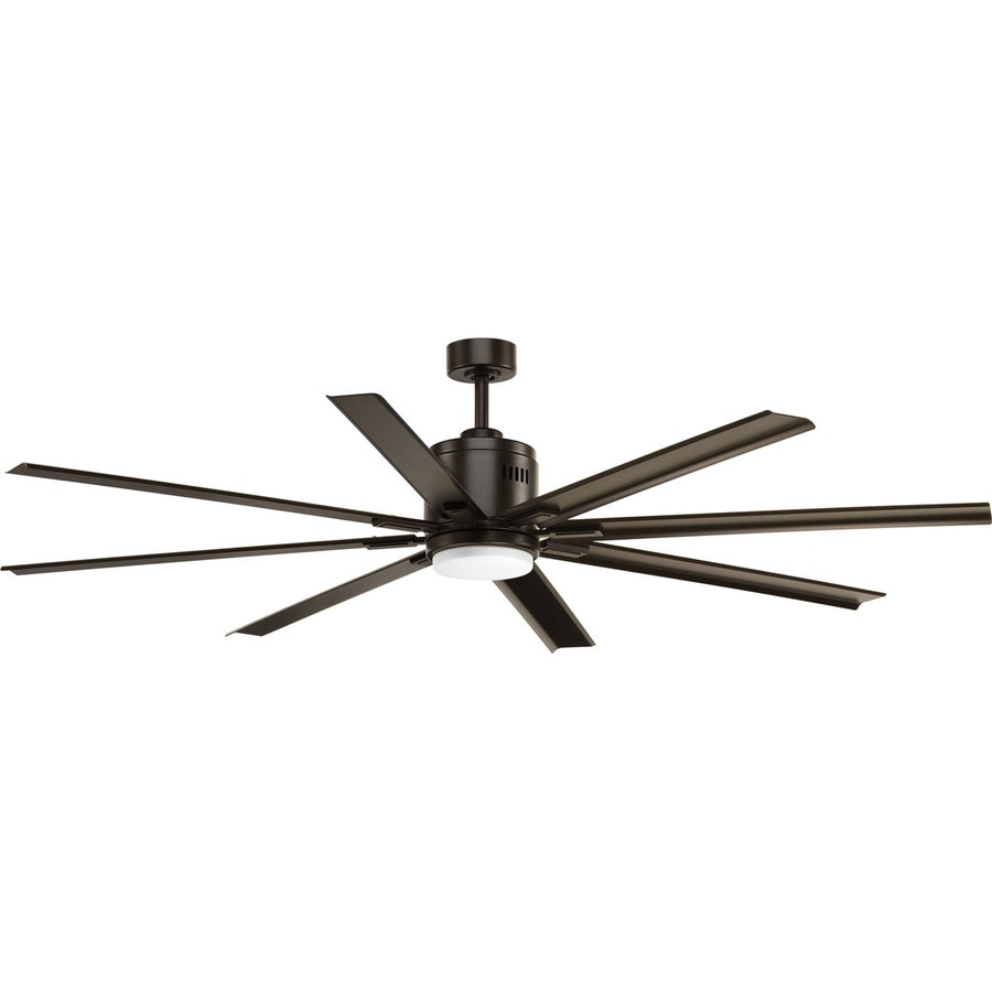 Progress Lighting Vast 72-in Antique Bronze LED Indoor Downrod Or Close Mount Ceiling Fan with Light Kit and Remote (8-Blade)