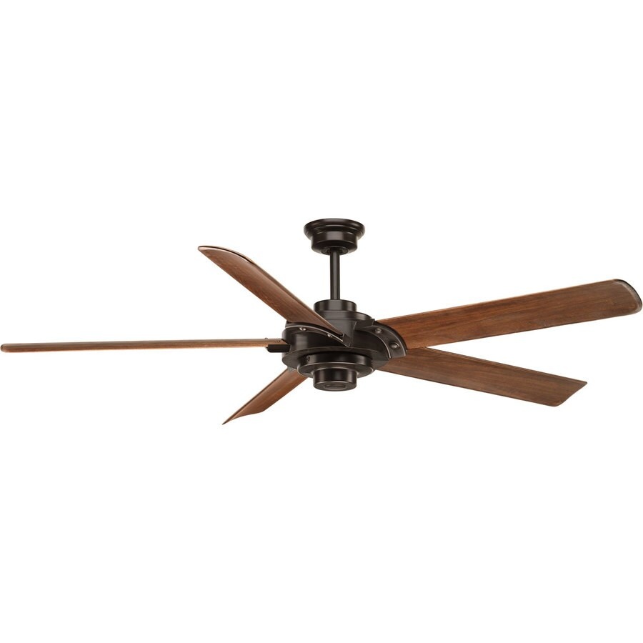 Progress Lighting Ellwood 68-in Antique Bronze Indoor Downrod Or Close Mount Ceiling Fan and Remote