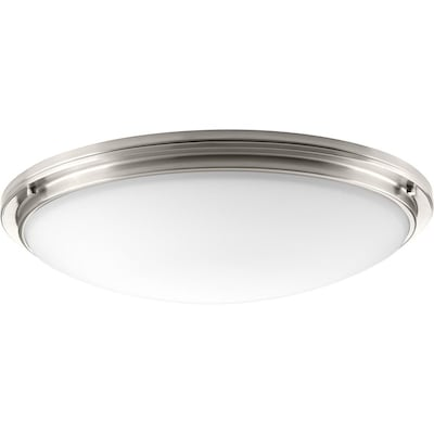 Apogee 27 In Brushed Nickel Modern Contemporary Led Flush Mount Light Energy Star