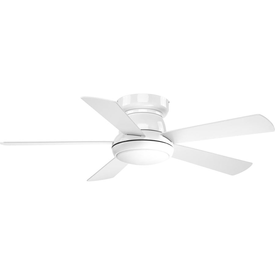 shop progress lighting vox 52 in white led indoor ceiling fan with