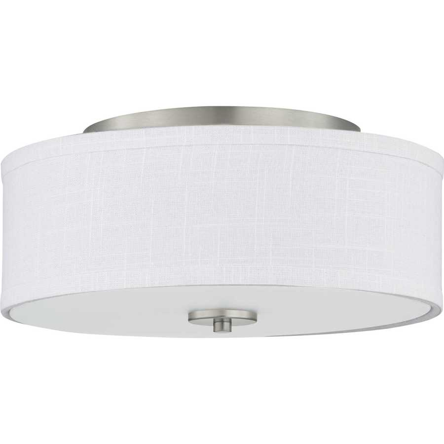 03a7cd5aa9f Progress Lighting Inspire LED 13-in W Brushed Nickel Fabric Semi-Flush  Mount Light ENERGY STAR