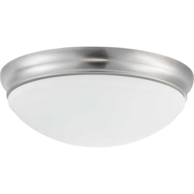 Progress Lighting Led Flush Mount 15 25 In W Brushed Nickel
