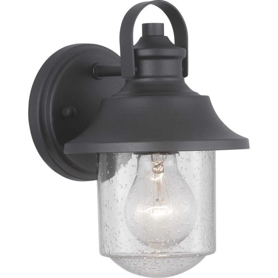 Bedfords Medium Pedestal Lantern In Black: Progress Lighting Weldon 9-in H Black Medium Base (E-26