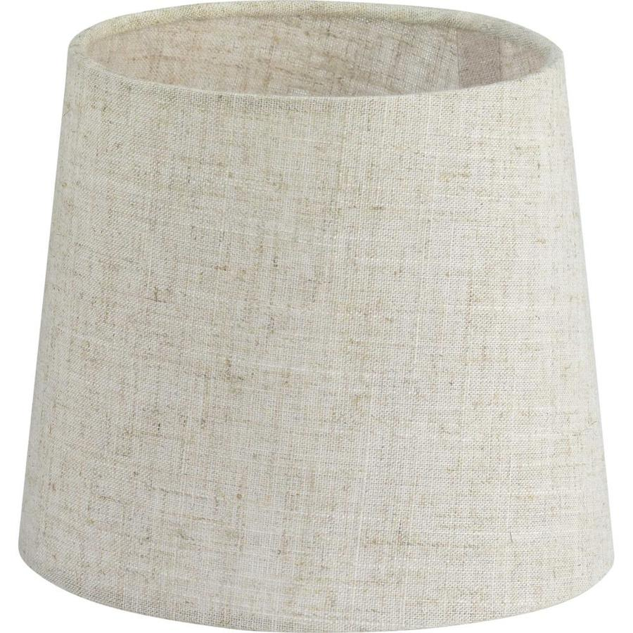 Progress Lighting Accessory Shade 5 In X 6 In Flax Linen Fabric Drum Lamp Shade In The Lamp Shades Department At Lowes Com