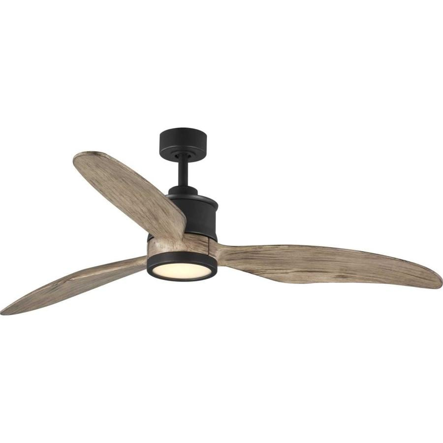 Progress Lighting Farris 60 In Graphite Led Indoor Ceiling Fan With Light And Remote 3 Blade In The Ceiling Fans Department At Lowes Com