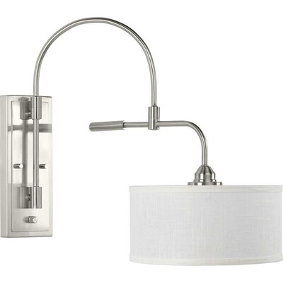 Kempsey 12 In W 1 Light Brushed Nickel Farmhouse Wall Sconce
