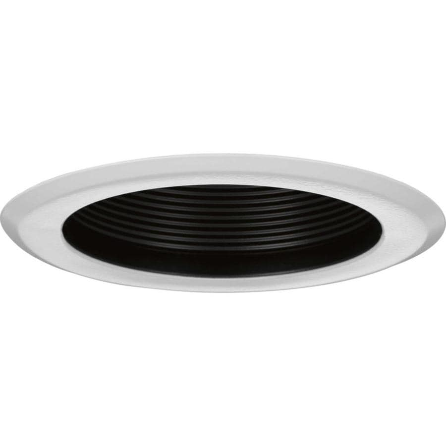 Progress Lighting Recessed Trim 5 In Black Baffle Recessed Light Trim In The Recessed Light Trim Department At Lowes Com