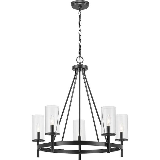 Progress Lighting Strahan 5 Light Black