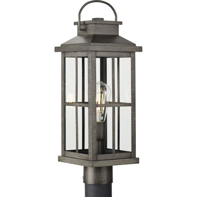 Progress Lighting Williamston Collection 1 Light Antique Pewter Etched Seeded Glass Modern Outdoor Post Lantern Light In The Post Light Parts Department At Lowes Com