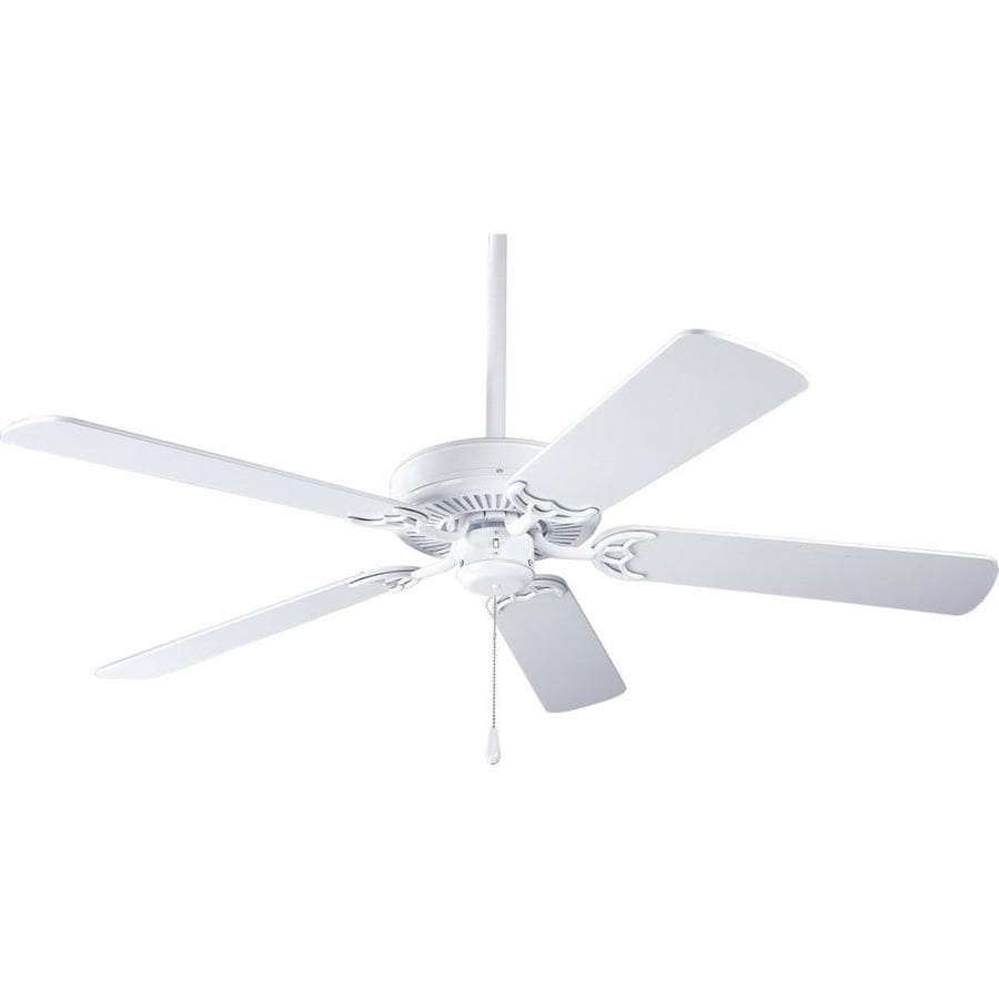 Progress Lighting AirPro Builder 52-in White Indoor Downrod Or Close Mount Ceiling Fan ENERGY STAR