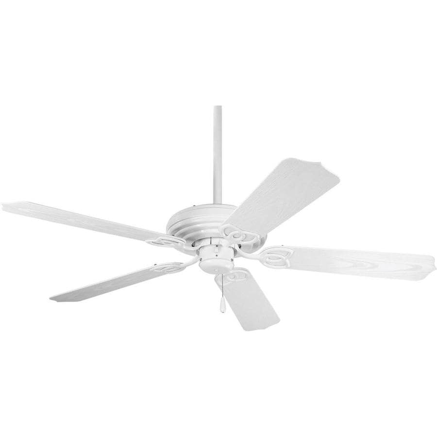Progress Lighting AirPro 52-in White Downrod or Close Mount Indoor/Outdoor Ceiling Fan