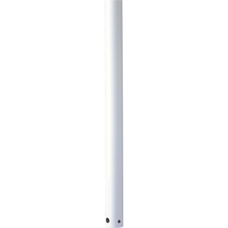 Progress Lighting 60-in White Steel Indoor Ceiling Fan Downrod