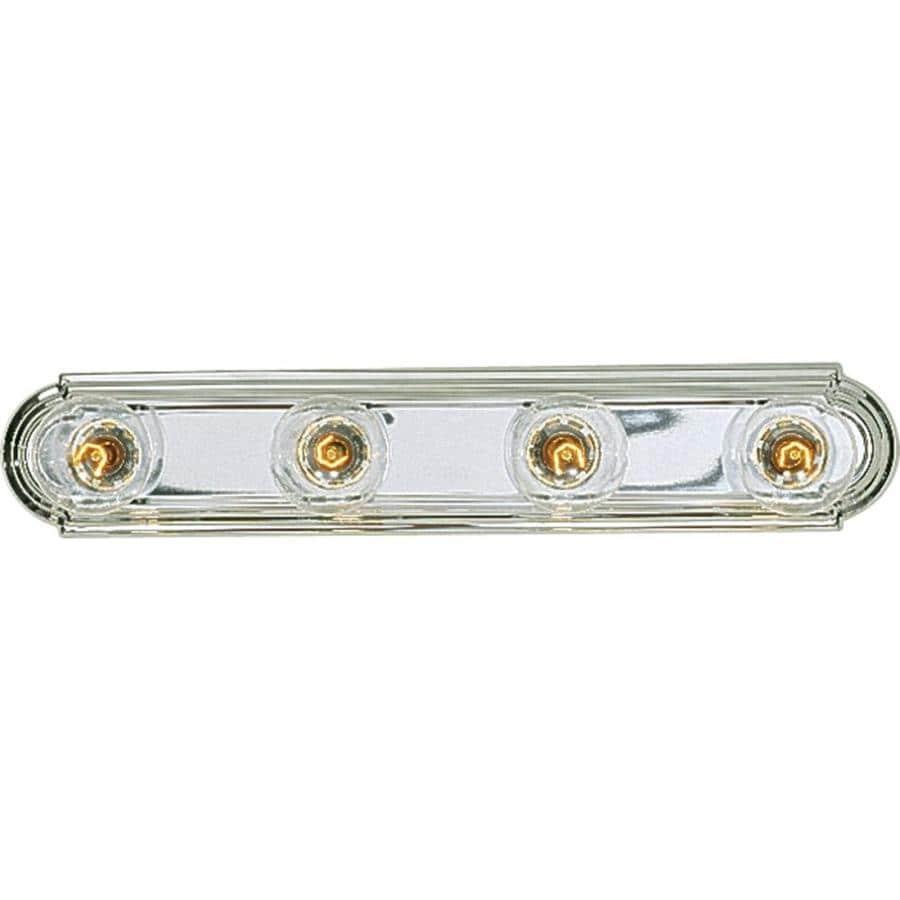 Progress Lighting Broadway 4-Light 4.5-in Polished Chrome Rectangle Vanity Light