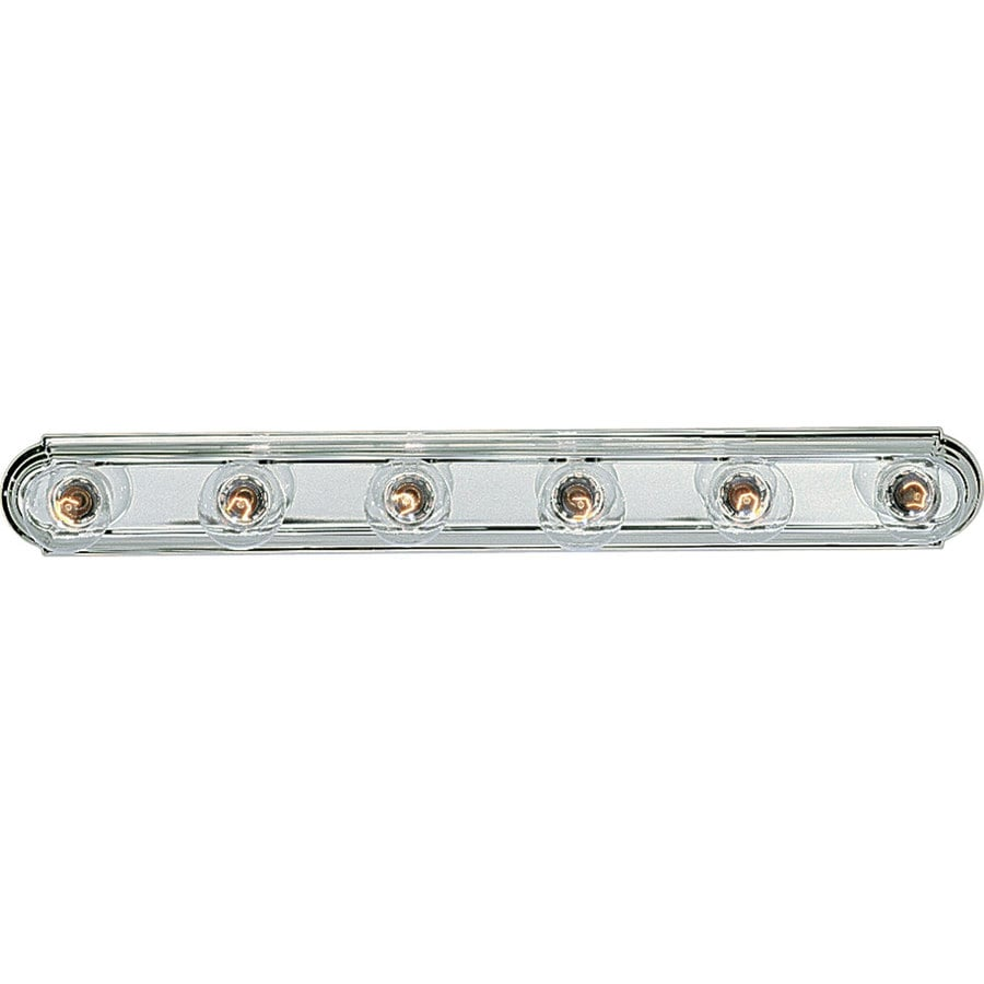 Progress Lighting Broadway 6-Light 4.5-in Polished chrome Rectangle Vanity Light