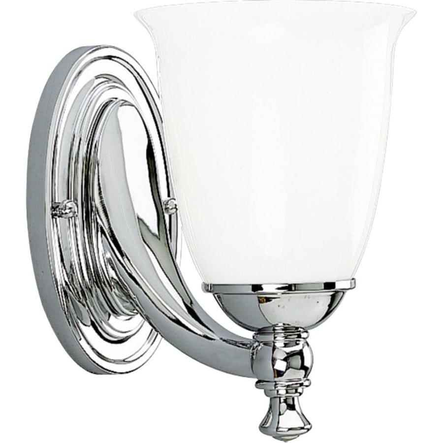 Progress Lighting Victorian 1-Light 8.5-in Polished Chrome Bell Vanity Light