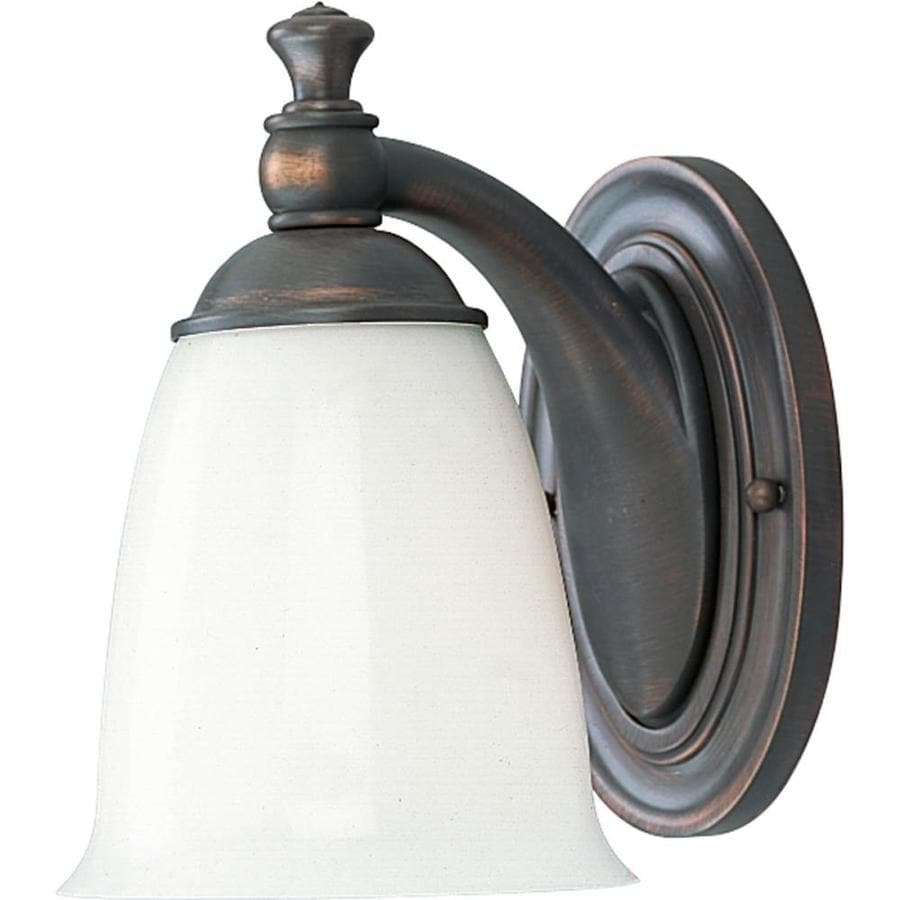Progress Lighting Victorian 1-Light 8.5-in Venetian bronze Bell Vanity Light