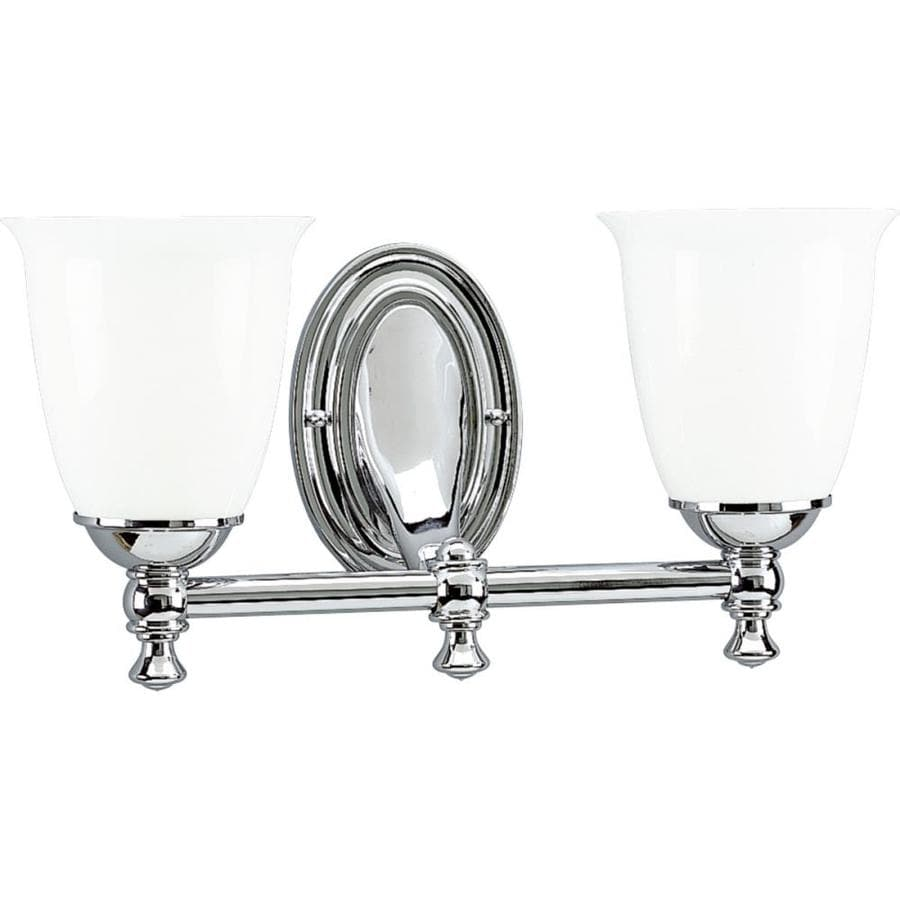 Progress Lighting Victorian 2-Light 8.5-in Polished Chrome Bell Vanity Light