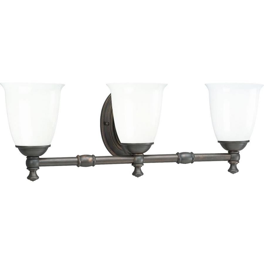 Progress Lighting Victorian 3-Light Venetian Bronze Bell Vanity Light