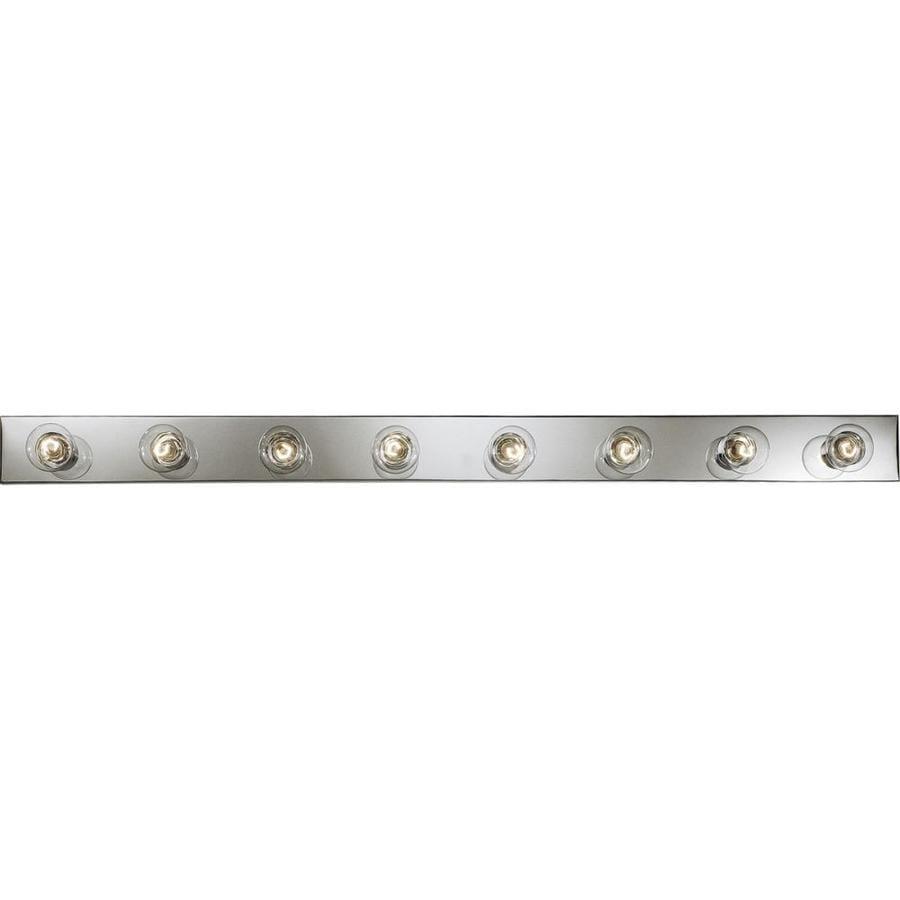 Progress Lighting Broadway 8-Light 4.25-in Polished Chrome Rectangle Vanity Light