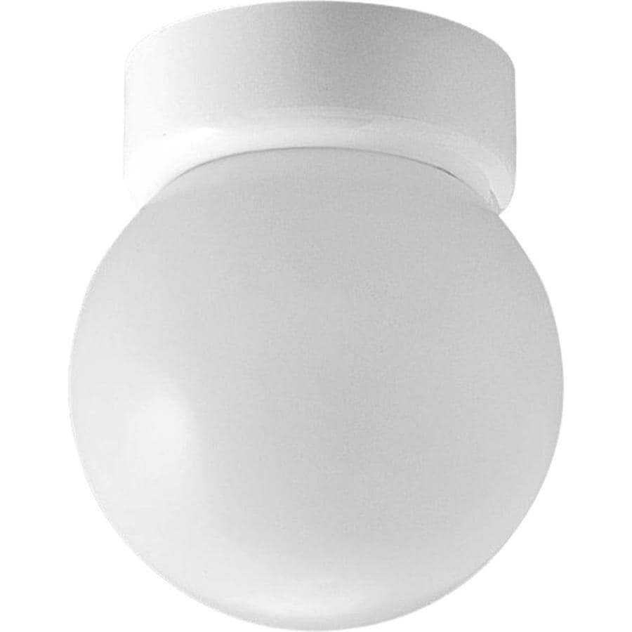 Progress Lighting Glass Globes 6-in W White Standard Flush Mount Light
