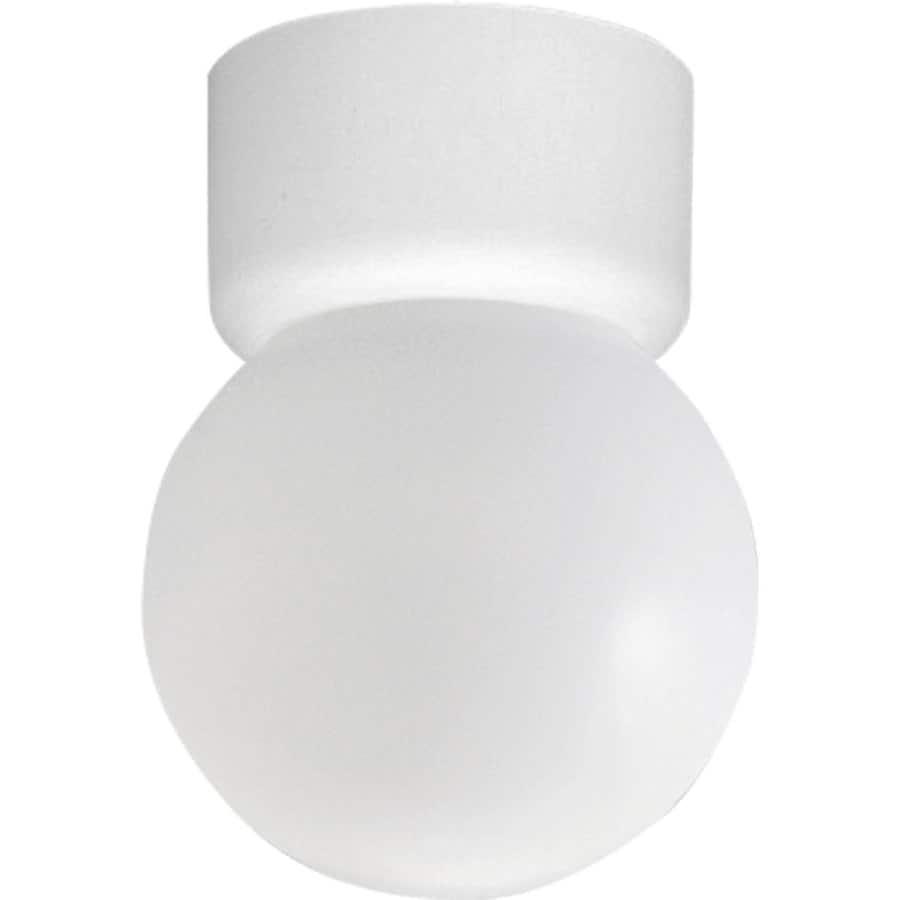 Progress Lighting Acrylic Globe 6-in W White Standard Flush Mount Light