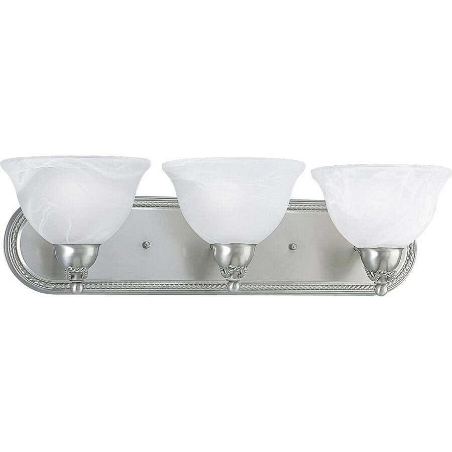 Progress Lighting Avalon 3-Light 7-in Brushed nickel Bowl Vanity Light