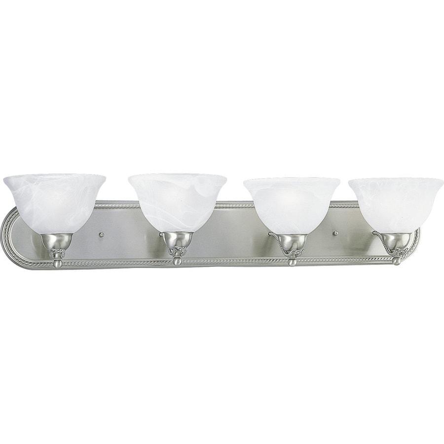 Progress Lighting Avalon 4-Light 7-in Brushed Nickel Bowl Vanity Light