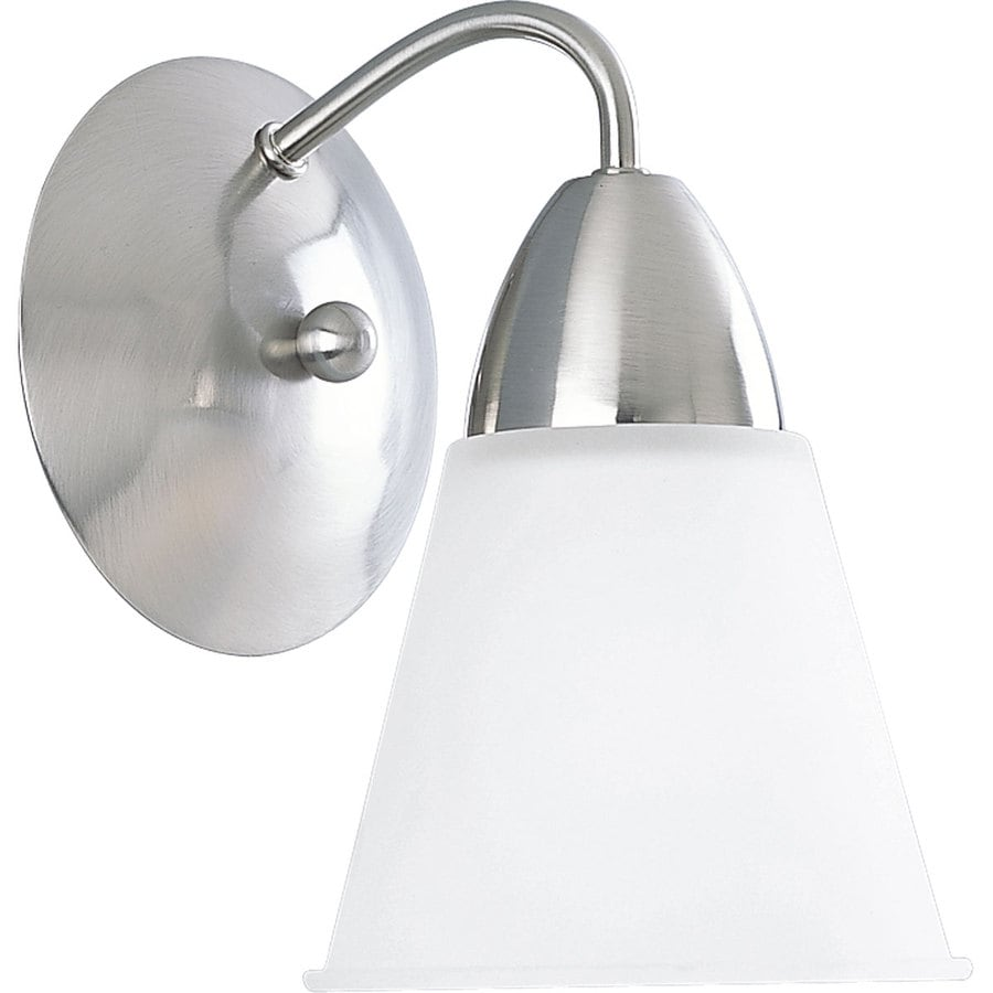Progress lighting modern 1 light 6 in brushed nickel bell - 8 light bathroom fixture brushed nickel ...