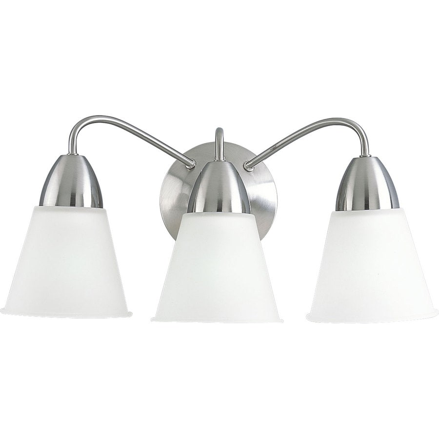 Shop Progress Lighting Modern 3 Light Brushed Nickel Bell Vanity Lig