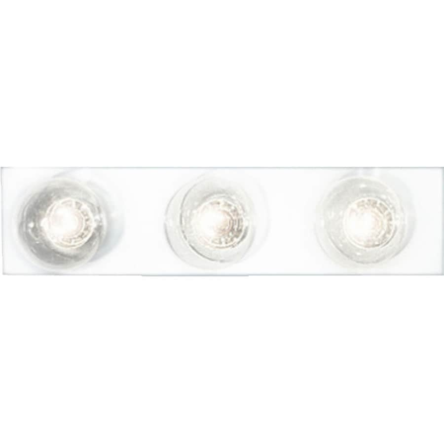 Progress Lighting Broadway 3-Light 4.25-in White Rectangle Vanity Light