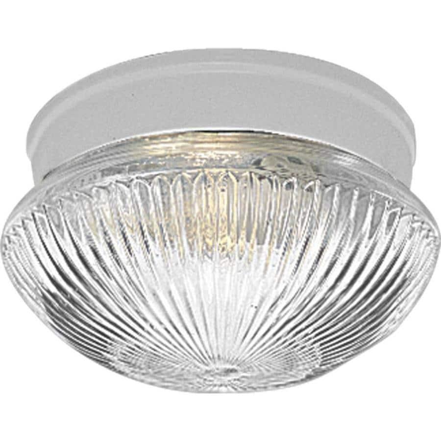 Progress Lighting Fitter 7.5-in W White Flush Mount Light