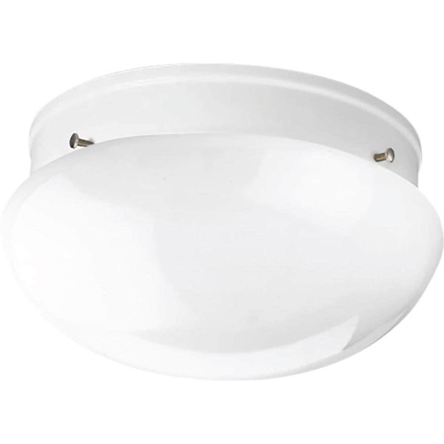 Progress Lighting Fitter 9.5-in W White Flush Mount Light
