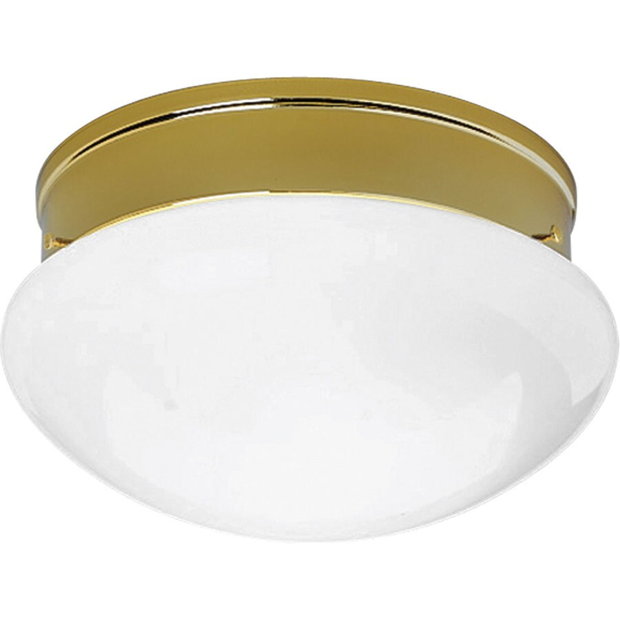 Progress Lighting Fitter 11.75-in W Polished brass Flush Mount Light