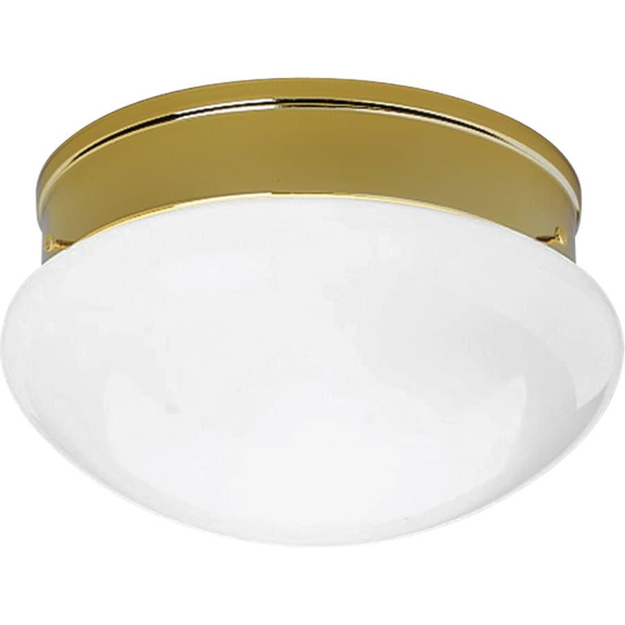 Progress Lighting Fitter 11.75-in W Polished Brass Ceiling Flush Mount Light