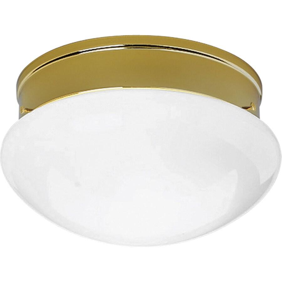 Progress Lighting Fitter 11.75-in W Polished Brass Standard Flush Mount Light