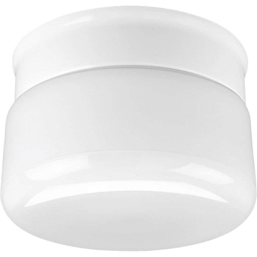Progress Lighting White Glass 6.75-in W White Ceiling Flush Mount Light