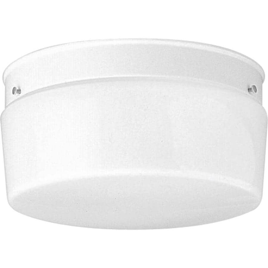 Progress Lighting White Glass 10.75-in W White Standard Flush Mount Light