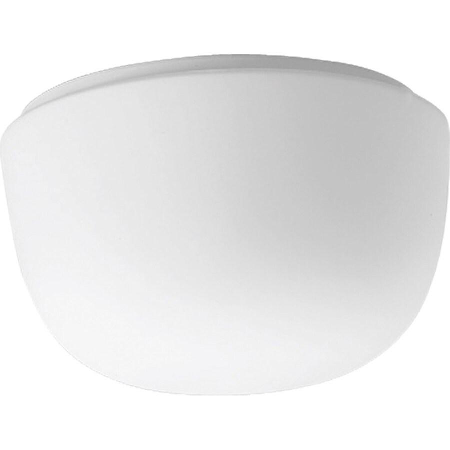 Progress Lighting White Glass 8.25-in W White Ceiling Flush Mount Light