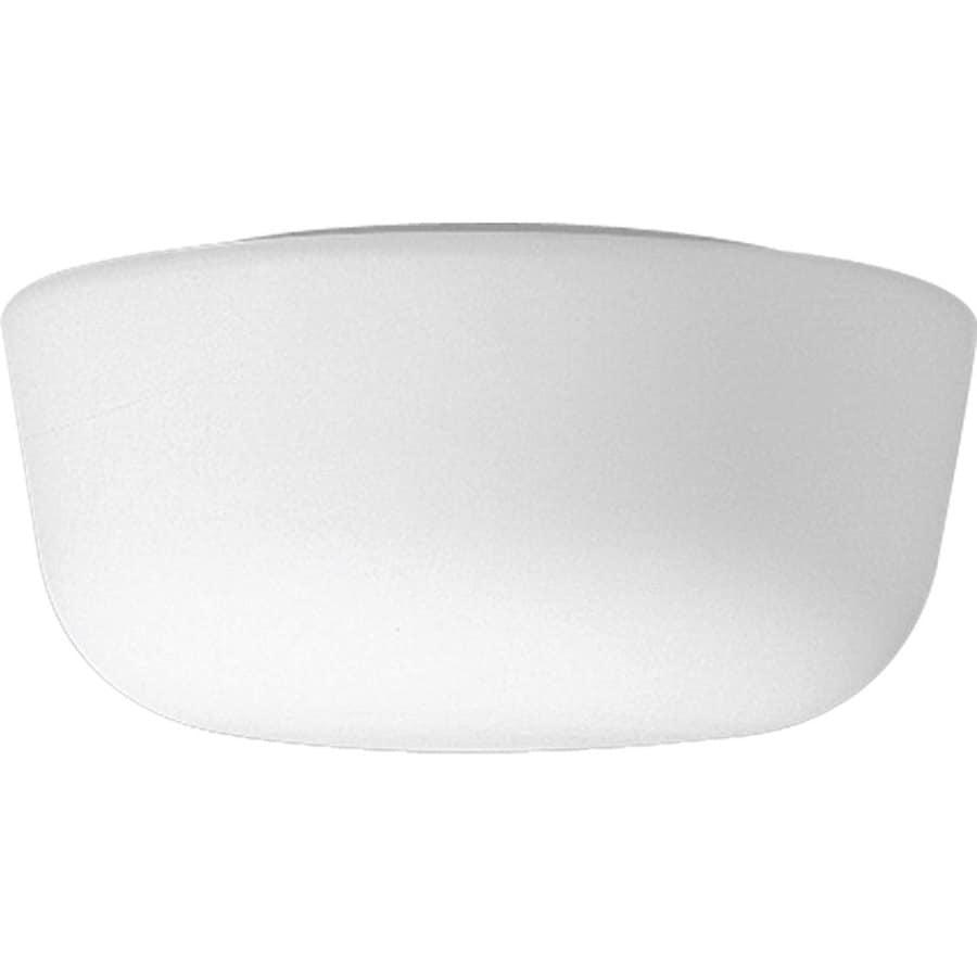 Progress Lighting White Glass 10.125-in W White Ceiling Flush Mount Light