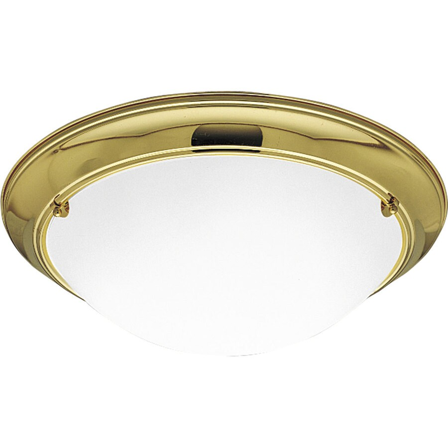 Progress Lighting Eclipse 19.375-in W Polished brass Flush Mount Light