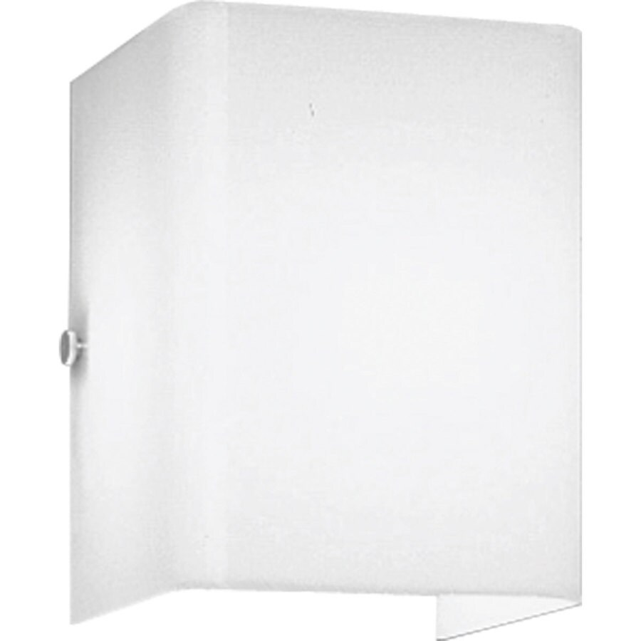 Progress Lighting 1-Light White Rectangle Vanity Light