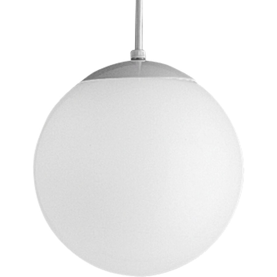Progress Lighting 10-in White Mini Bell Pendant
