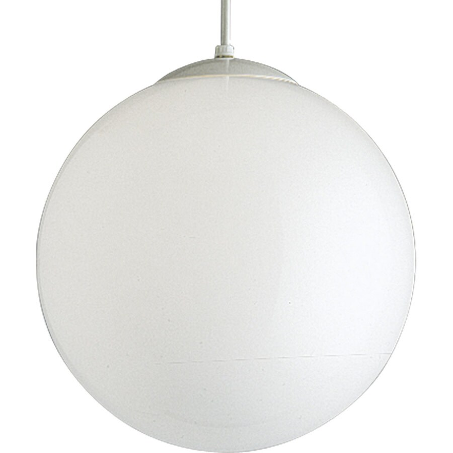 Progress Lighting 14-in White Single Bell Pendant