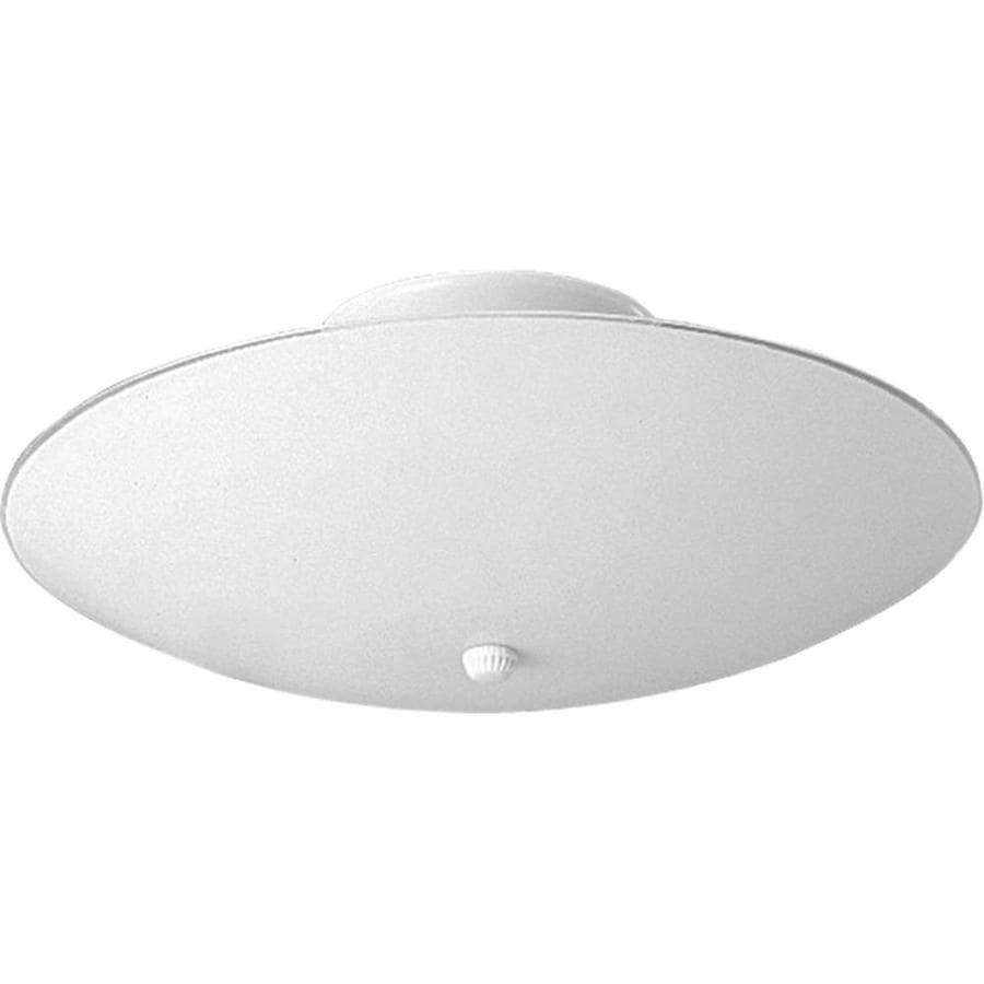 Progress Lighting Round Glass 12-in W White Flush Mount Light