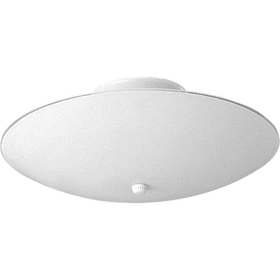 Progress Lighting Round Glass 14.5-in W White Flush Mount Light