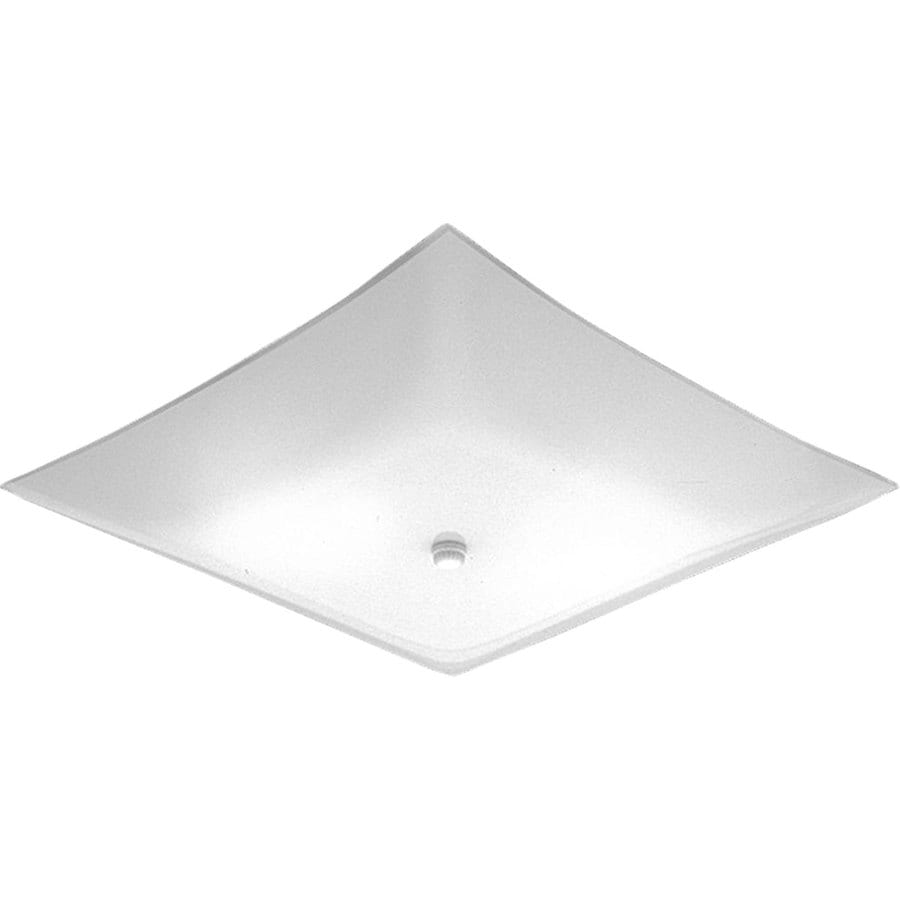 Progress Lighting Square Glass 14-in W White Flush Mount Light