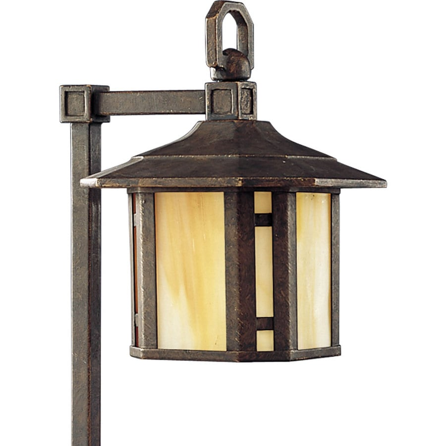 Progress Lighting Arts and Crafts 18-Watt Weathered Bronze Low Voltage Plug-In Incandescent Path Light