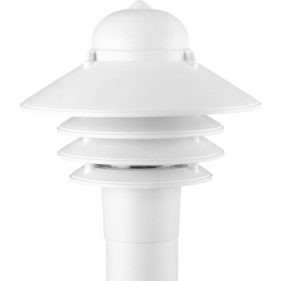 Progress Lighting Newport 10-in H White Post Light